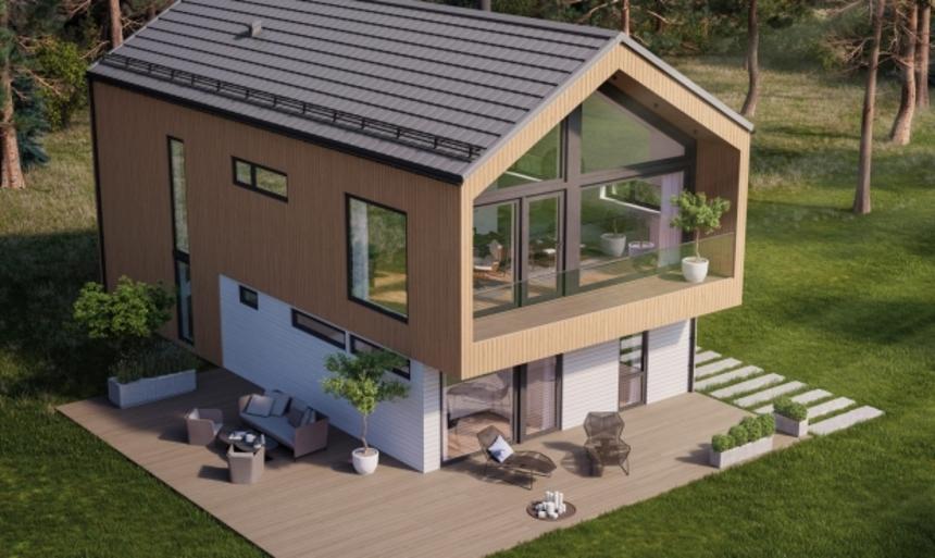 Dům z krytiny Isola Powertekk Plano