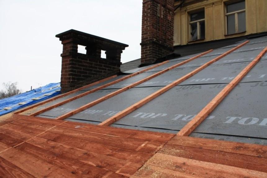 Odkrytá střecha - latě