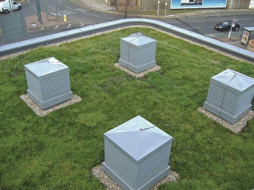 Zelená střecha detail
