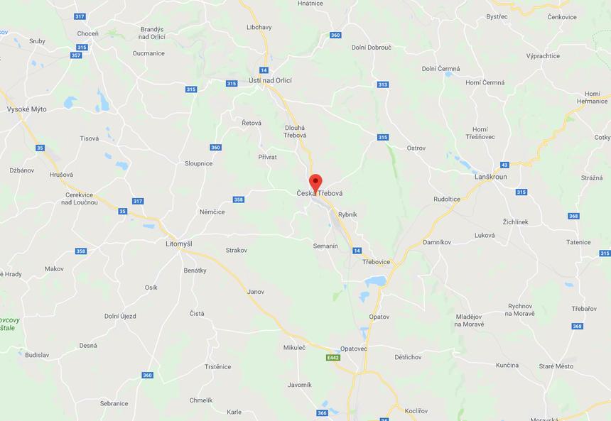 mapa česká třebová