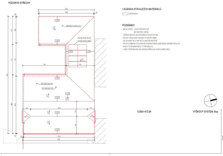 Půdorys střechy - Satjam roof purex