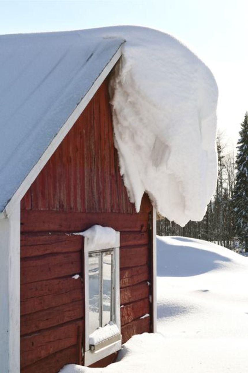 Sněhu může být někdy na střeše opravdu hodně