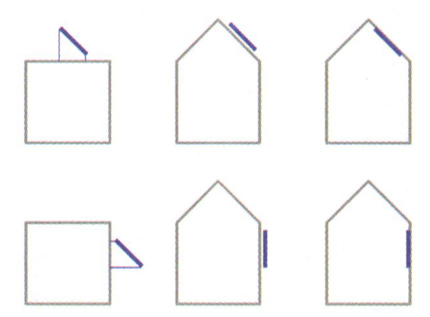 Možnosti umístění solárních kolektorů na střechy a fasády bytových domů
