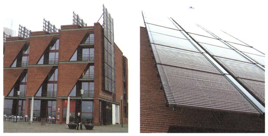 Trubkový kolektor jako architektonický prvek