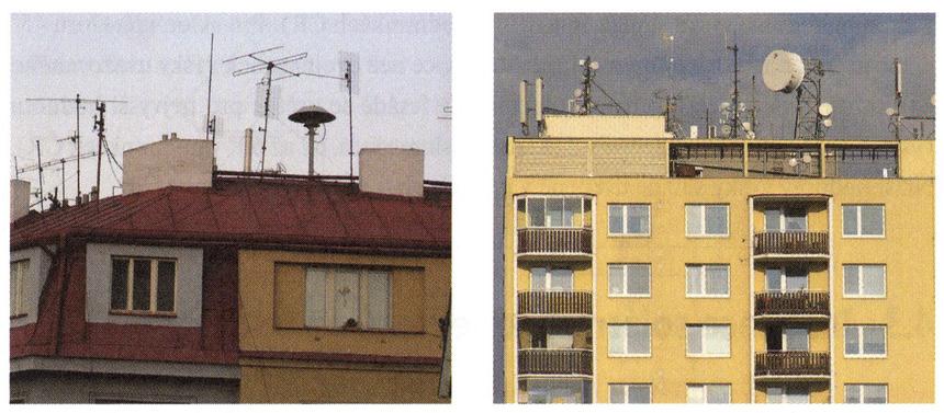 Omezení prostoru pro potenciální instalaci kolektorů na střechách bytů