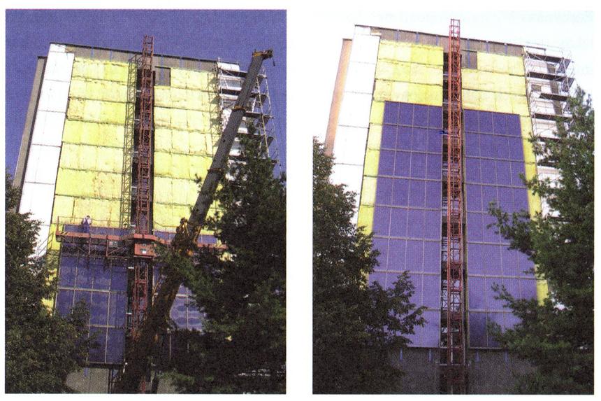 Instalace velkoplošného fasádního kolektoru v rámci zateplení domu