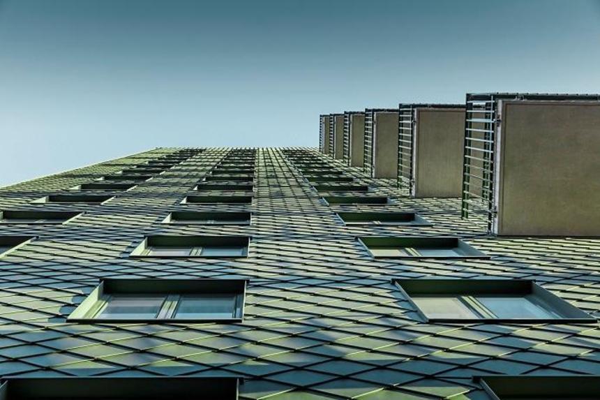 Výškové budovy, Göteborg - pohled zdola