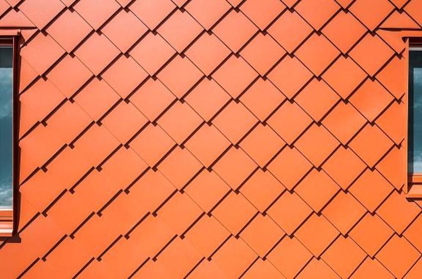PREFA fasádní šablona 29 × 29 oranžová