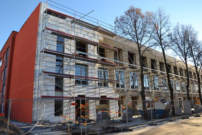 Izolace fasády bytového domu