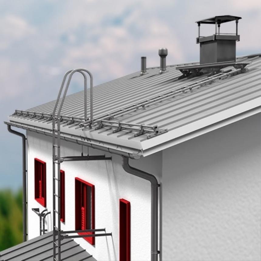 Komplexní systém Lindab Safety pro bezpečnost na střechách