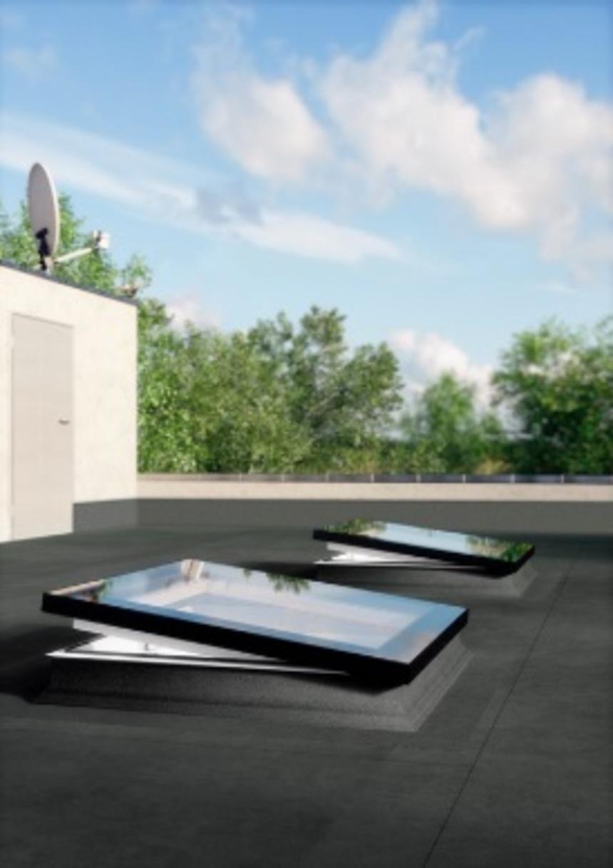 Okno do plochých střech typu F