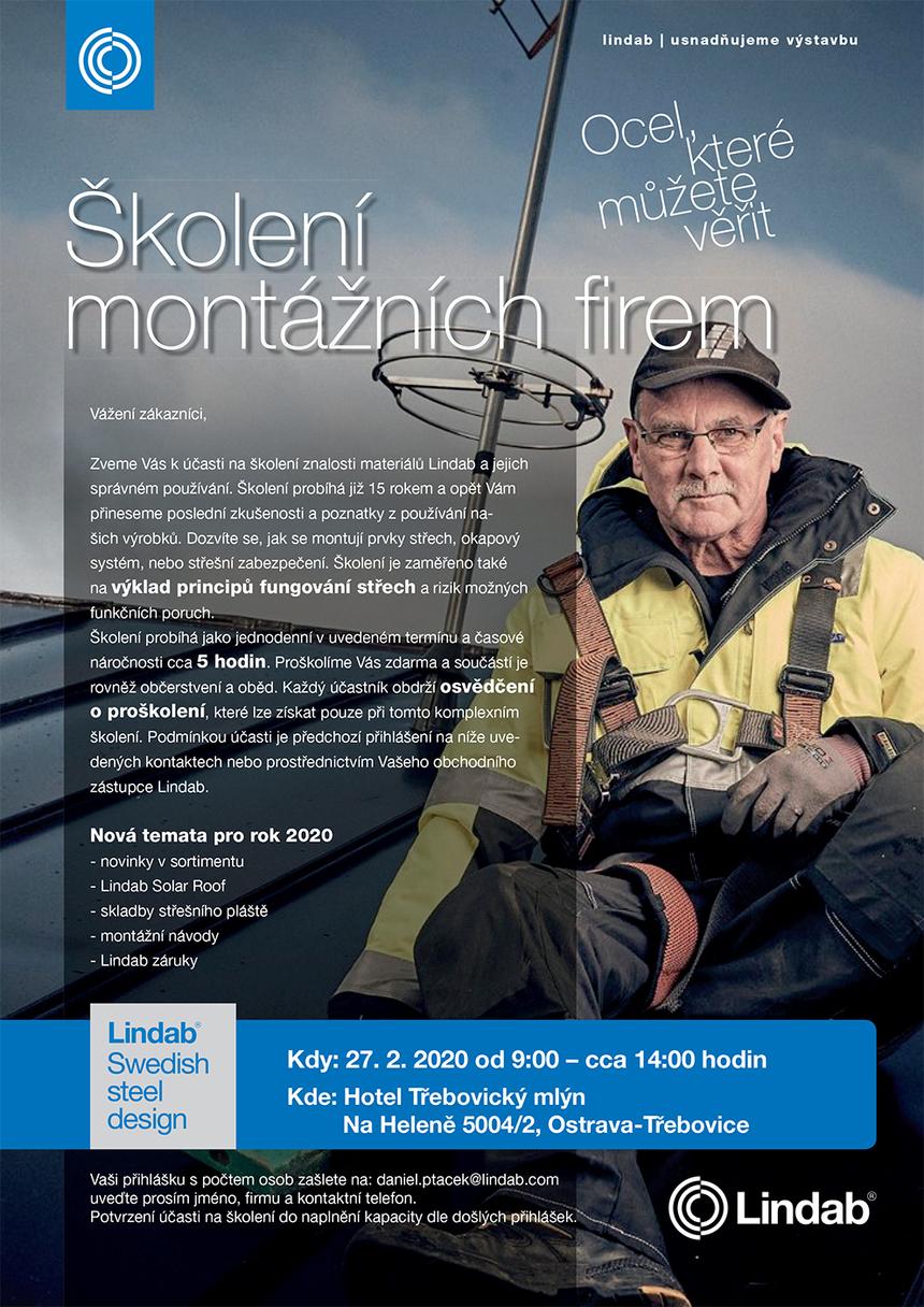 Školení montážních firem Ostrava - 27.2. 2020