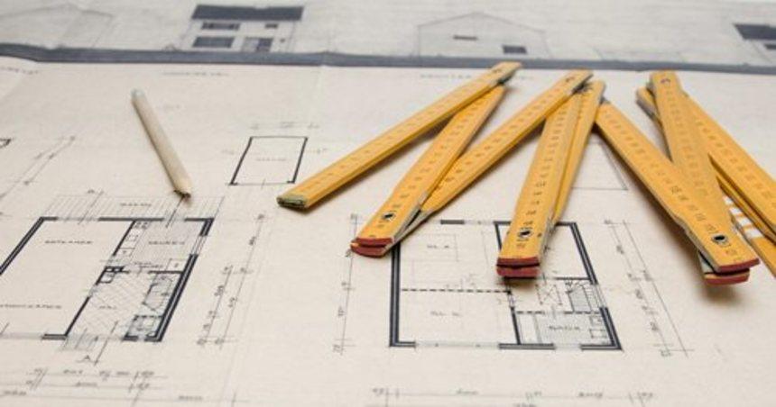 Metr na stavebním výkresu