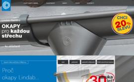 Okapy Lindab lze vybírat na nové webové stránce