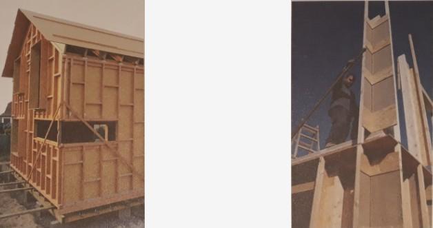 Kolmý spoj sloupků s polovičním přeplátováním a spojem konstrukčním vrutem