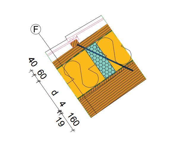 detail tepelného mostu v nadkrokevní izolaci