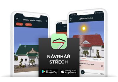 Mobilní aplikace návrhář střech