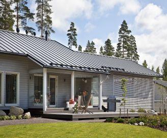 Ruukki, Typická finská dřevostavba s plechovou krytinou Ruukki Classic