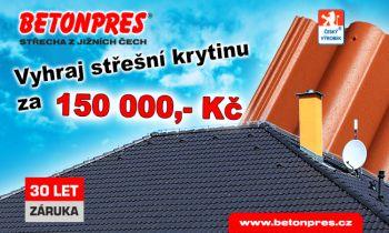 Betonpres, soutěž o střešní krytinu za 150 tisíc korun