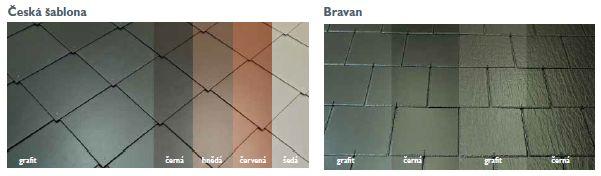 Cembrit, vláknocementové skládané střešní šablony - Česká šablona, Bravan