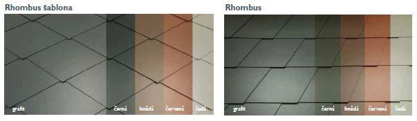 Cembrit, vláknocementové skládané střešní šablony - Rhombus