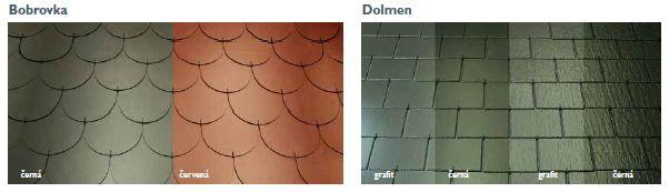 Cembrit, vláknocementové skládané střešní šablony - Bobrovka, Dolmen