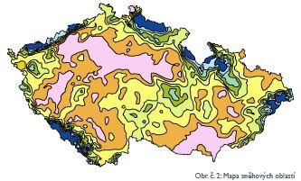 Cembrit, mapa sněhových oblastí