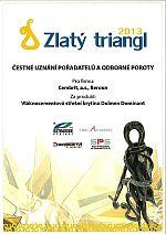 Cembrit, Čestné uznání Zlatý triangl 2013