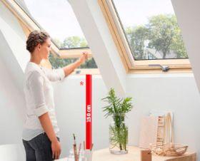 Velux, nová generace střešních oken s dolním ovládáním