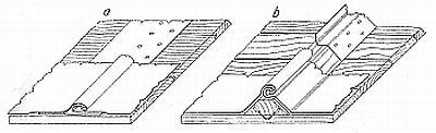 Svislé spoje olověných tabulí