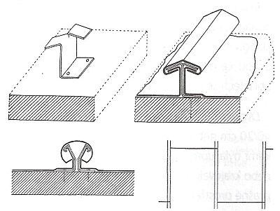 Příchytka pro olověné pásy a upevnění horní krycí lišty