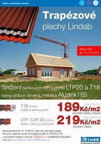 Trapézové plechy Lindab