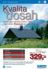 Lindab, krytina Click s povrchem Premium