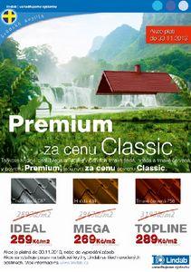 Lindab, krytina Premium za cenu Classic