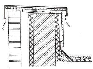 Oplechování atiky a napojení na lemování zdí