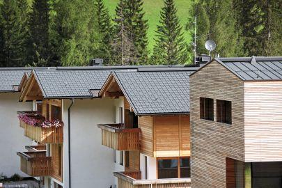 Prefa, nové sídliště Corvava v jižním Tyrolsku