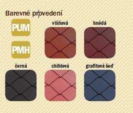 Satjam, maloformátová krytina Satjam Rombo Premium, barevné provedení