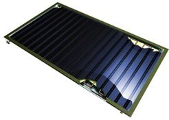 Grada, Schematický řez plochým solárním kolektorem, zdroj: Thermosolar