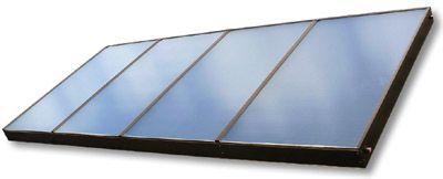 Ilustrační foto, Velkoplošný solární kolektor