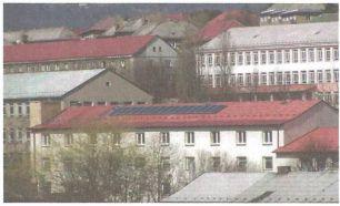 Grada, Solární kolektory na střeše správního objektu firmy Doterm Servis (Meziboří), zdroj: D. Borovský