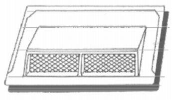 Vedag, odvětrávač určený pro pravoúhlý, třítabulový šindel