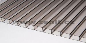 Zenit, Komůrkový polykarbonát Makrolon 2/10 (tloušťka: 10 mm, barva: bronz (hnědá, kouřová), šířka: 1050 mm, délka komůrek: 2000 mm)