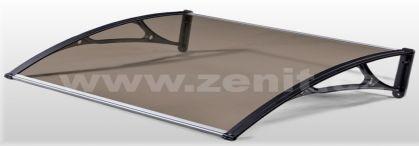 Zenit, vchodové stříšky bronzové a čiré