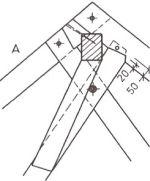 Detail uchycení hřebenové vaznice