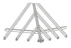 Konstrukce nároží valbového krovu