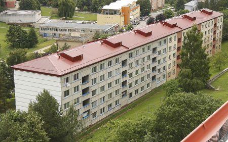 Zastřešení ploché střechy systémem Lindab Roof, Uherský Brod