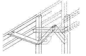 Zavětrování konstrukce vzpěrami