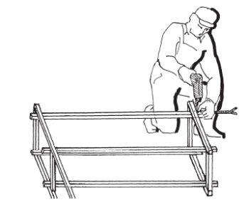 Upevnění konstrukce pergoly ke kotevním prvkům