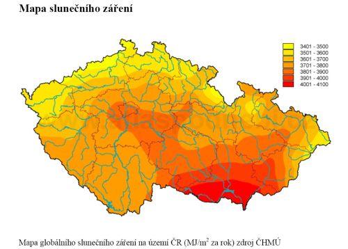 Mapa Slunecniho Zareni Destova Mapa Namrazy A Nejnizsich Teplot