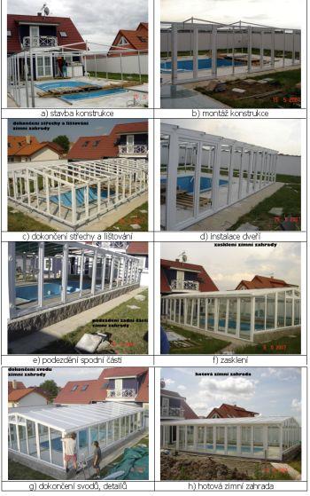 Příklad postupu stavby zimní zahrady